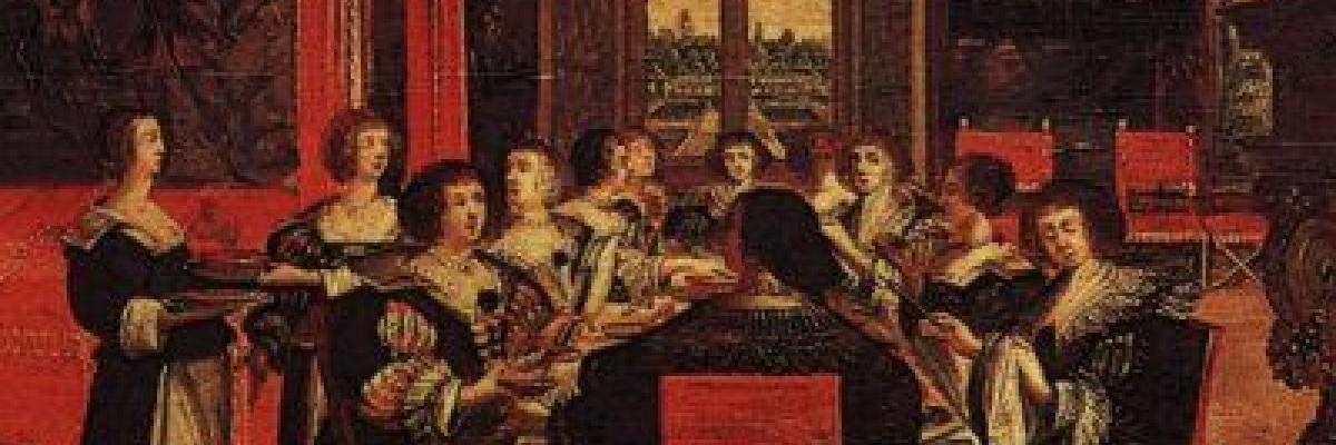 Abraham Bosse, salon de dames, source [Wikimedia Commons]