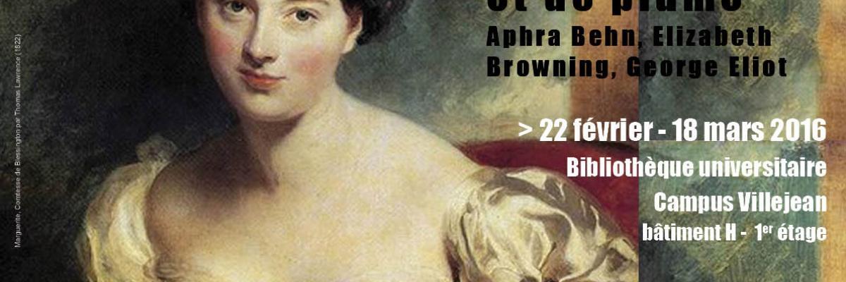Affiche de l'exposition Femmes de lettres, Licence CC:BY-NC-SA
