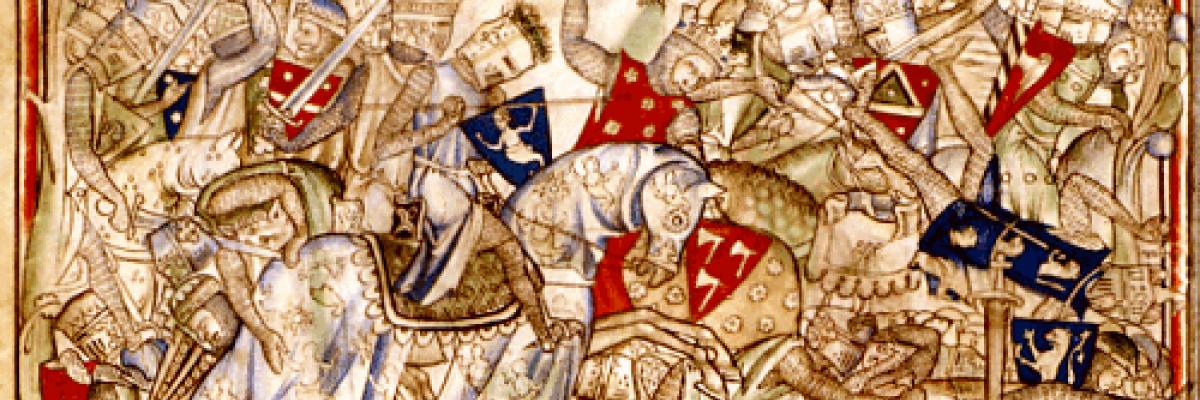 Harald at Stamford Bridge. Source [Wikimedia Commons]