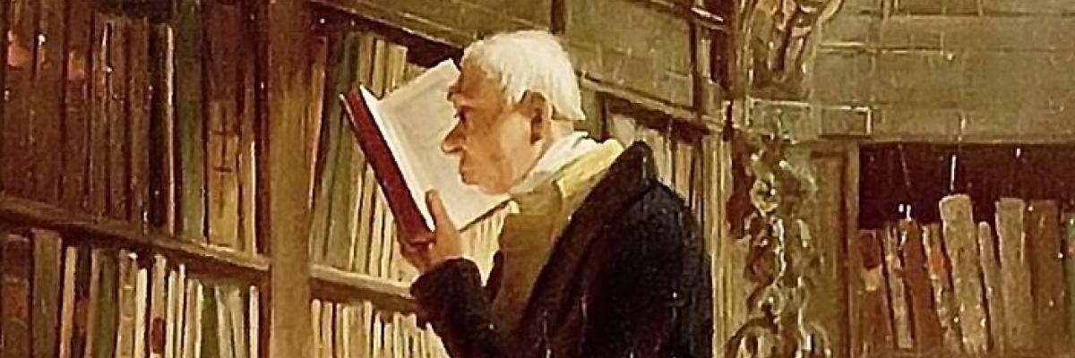 Carl Spitzweg. Le bibliophile