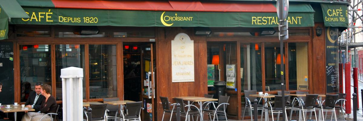 café ou fut assassiné Jean Jaurès par garysoccer1, licence CC:BY-NC, source [Flick'r]