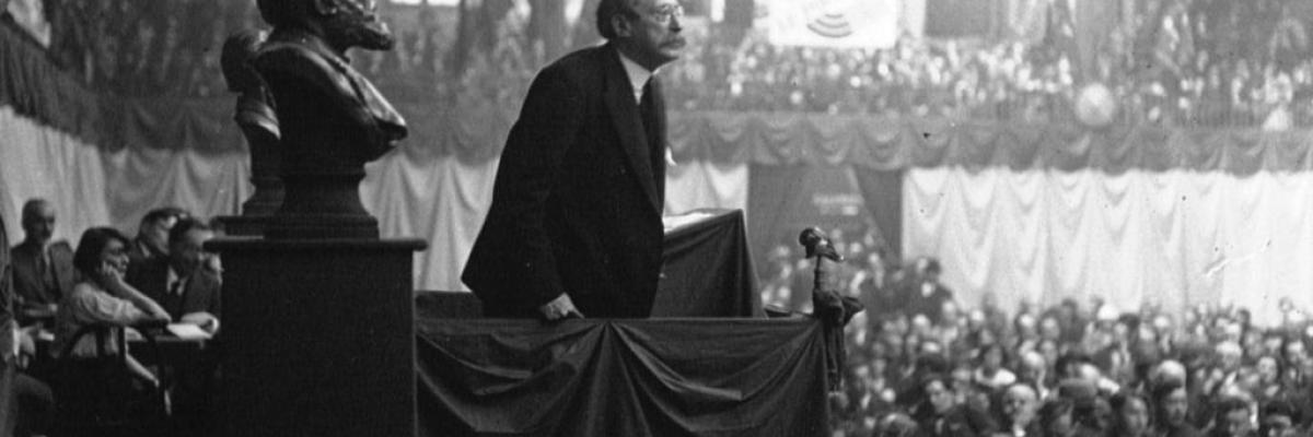 Discours de Léon Blum au Congrès socialiste, 1932 par Gallica BNF. Source [Wikimedia commons]