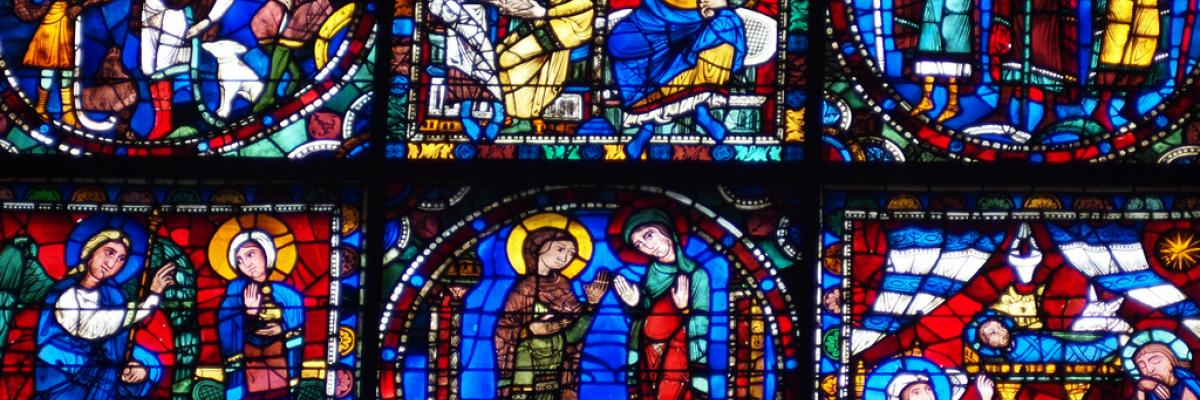 Chartres Cathedral stained glass by Francisco Gonzalez, licence CC:BY, source [Flick'r]
