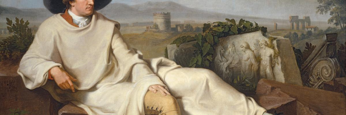 Johann Heinrich Wilhelm Tischbein - Goethe in the Roman Campagna - Google Art Project.jpg, domaine public. Source [wikmedia Commons]