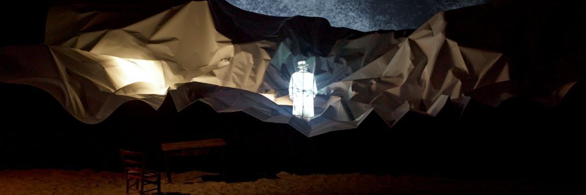 Marc-Antoine Mathieu, S.E.N.S., installation, LiFE Saint-Nazaire, 2015. Photo Marc Domage aimablement transmise par les organisateurs