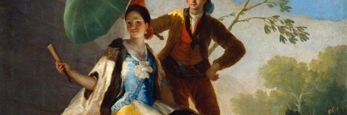 The parasol, Francisco de Goya, Domaine public. Source [Wikimedia commons]