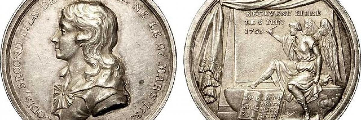 Jeton sur la mort de Louis XVII. Source [Wikimedia Commons]
