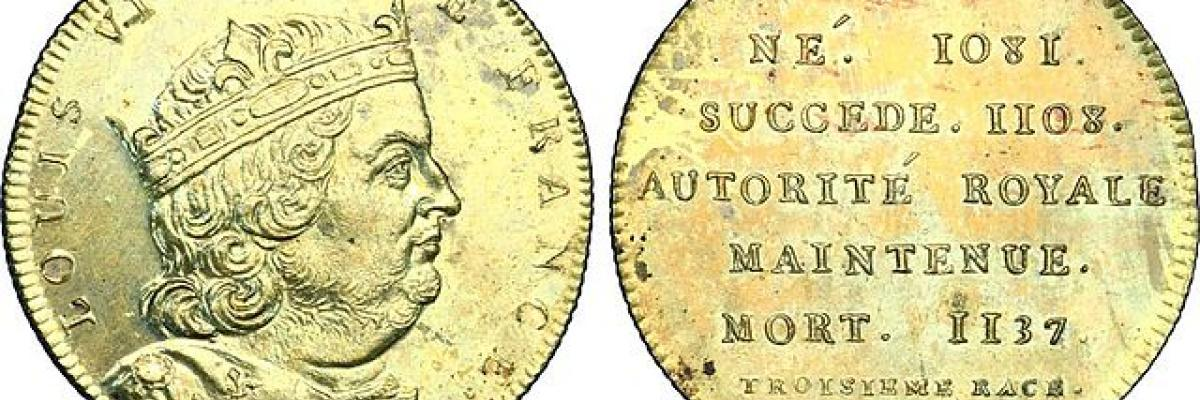 SÉRIE MÉTALLIQUE DES ROIS DE FRANCE, Louis VI le Gros par CGB, licence CC : BY-SA-3.0. Source [Wikimedia commons]