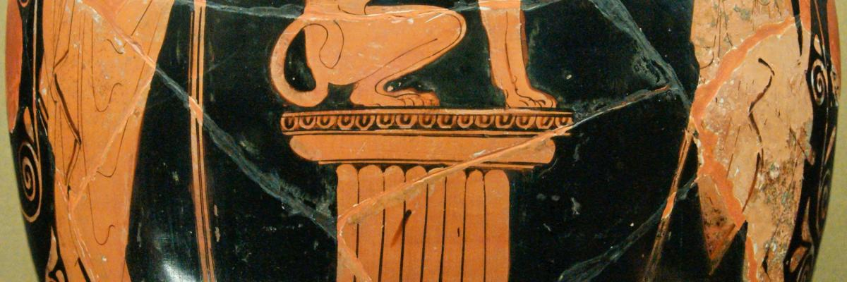Oedipus sphinx Louvre G417 n2 par  Marie-Lan Nguyen , licence CC:BY 3.0, source [Wikimedia Commons]