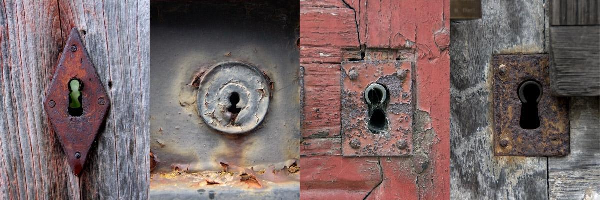 12 serrures de vieilles portes par Marin Wibaux, licence CC:BY-NC-SA. Source [Flick'r]