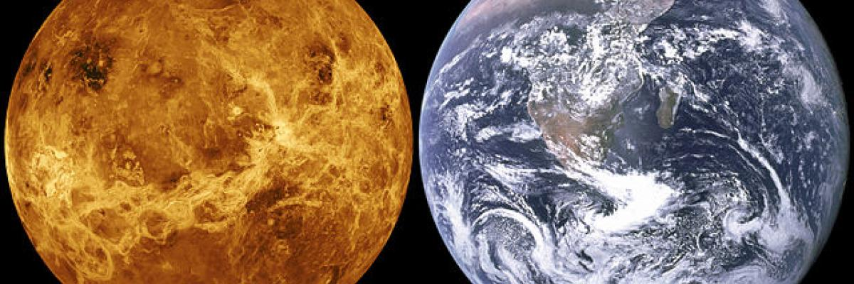 Venus, Earth size comparison. Source [Wikimedia Commons]