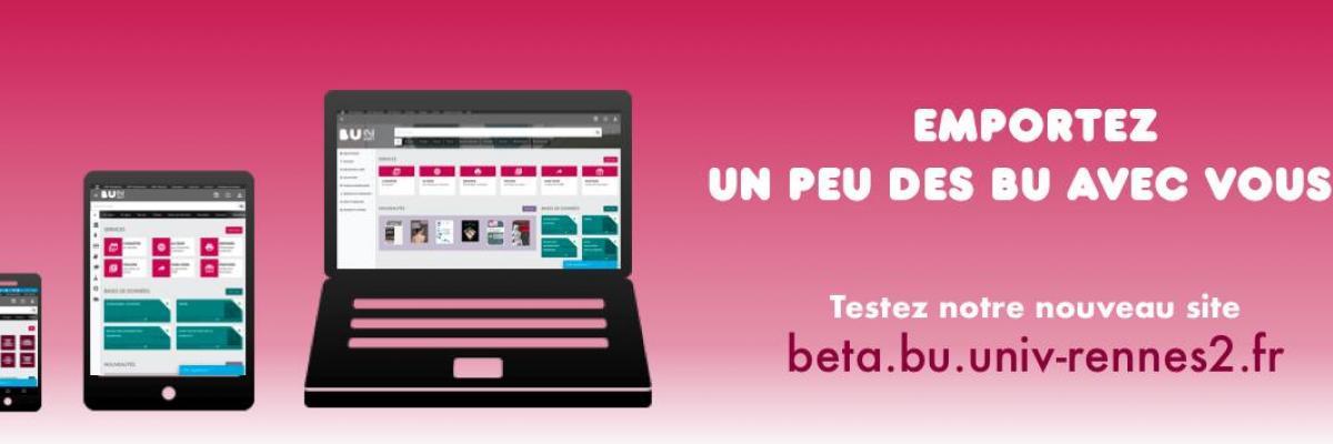 Nouveau site web BU Rennes 2