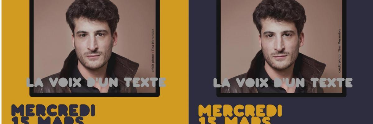 Affiche La voix d'un texte - 15 mars 2017