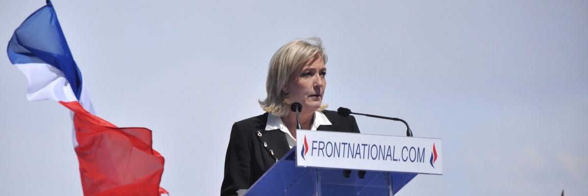 Meeting 1er mai 2012 Front National par Blandine Le Cain, licence CC : BY. Source [Flickr]