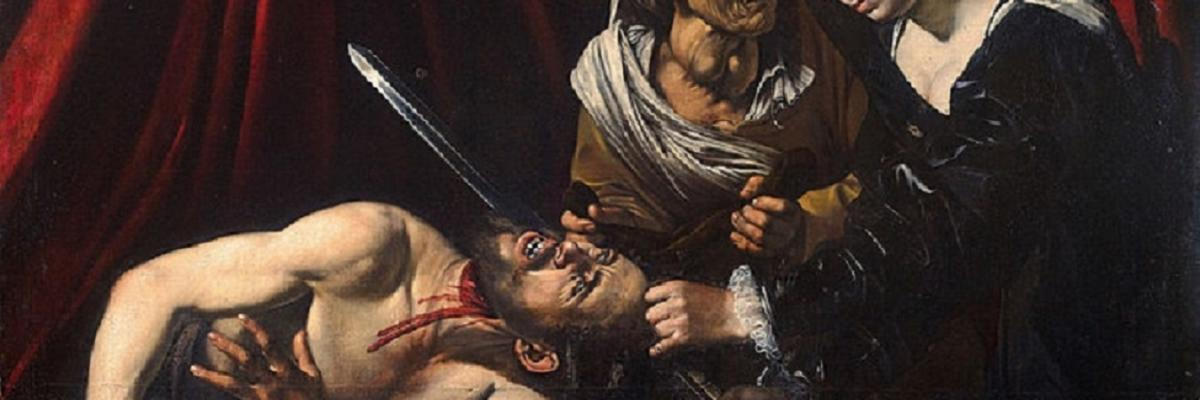 Caravaggio Judith Beheading Holofernes, domaine public. Source [Wikimedia Commons]