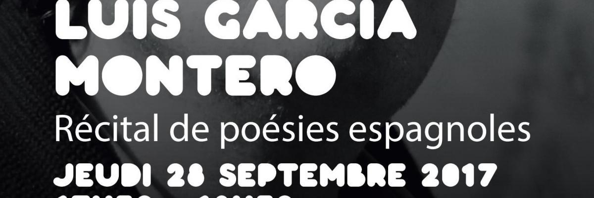 Affiche du Récital de poésies espagnoles - BU Rennes 2