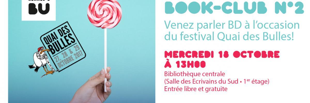 Affiche du deuxième book club - BU Rennes 2