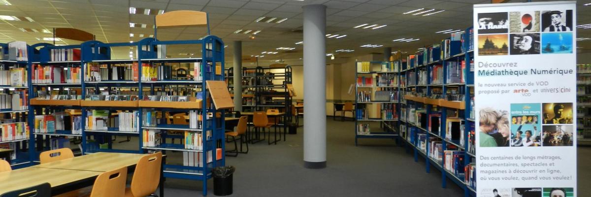 Médiathèque par BU Rennes 2, licence CC. Source [BU Rennes 2]