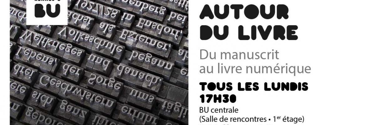 Affiche Autour du livre - BU Rennes 2