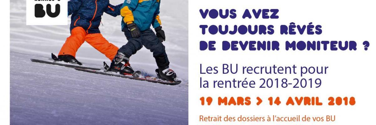Affiche recrutement moniteurs 2018-2019 - BU Rennes 2