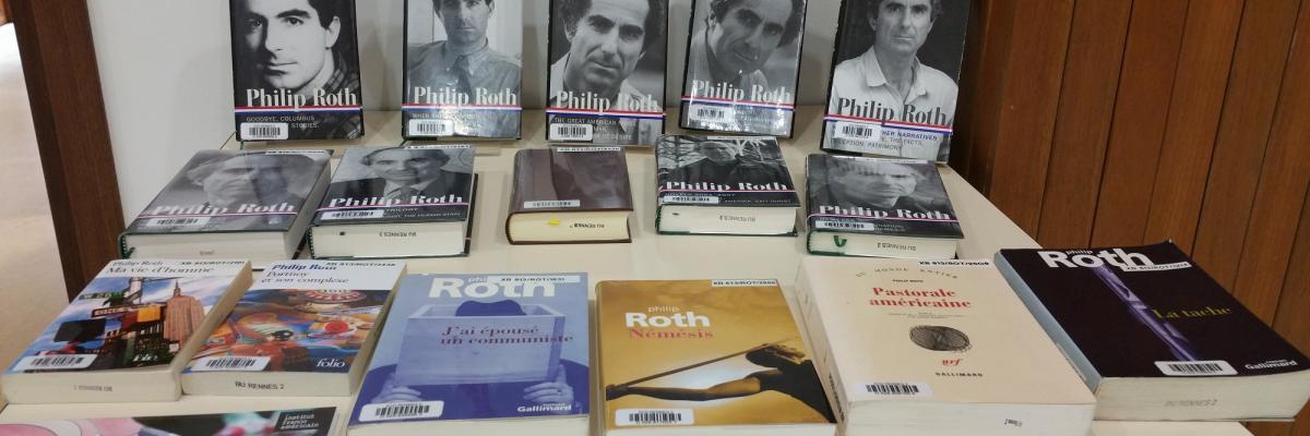 Ouvrages de Philip Roth présentés à la BU - SCD Rennes 2
