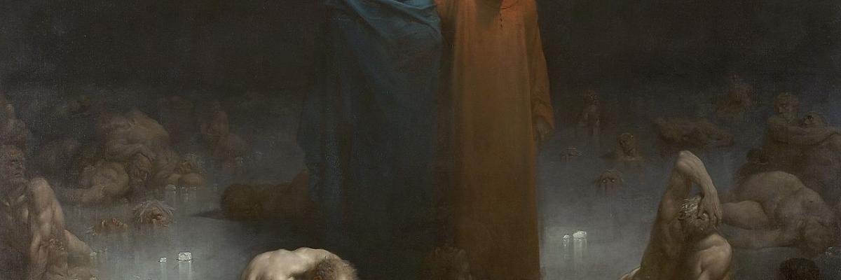 Dante et Vergil dans le neuvième cercle de l'enfer - Gustave Doré, domaine public. Source [Wikimedia Commons]
