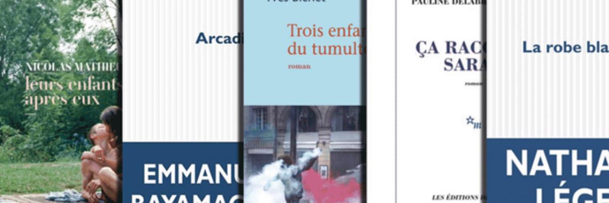 Les cinq livres de la sélection. Source [www.telerama.fr]