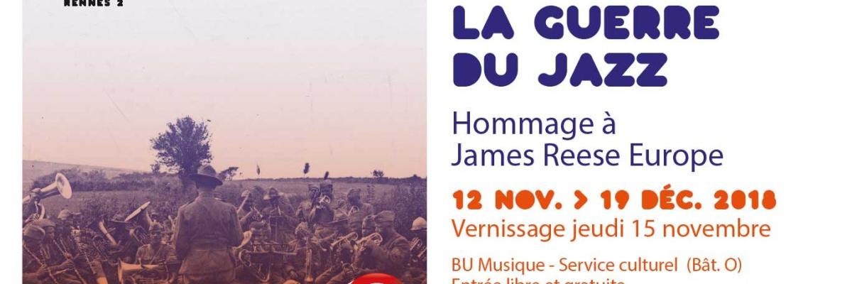 Visuel de l'exposition La guerre du jazz - SCD Rennes 2