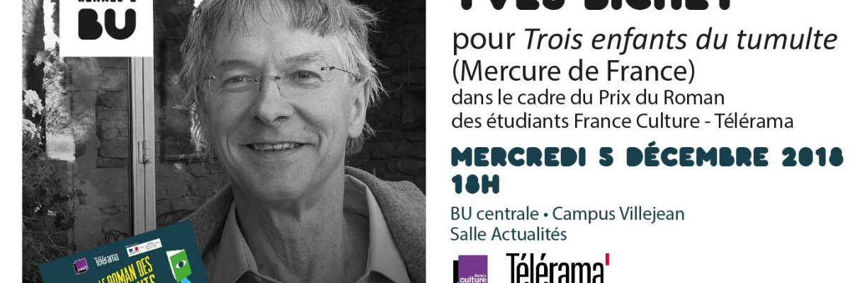 Affiche de la rencontre Yves Bichet [Crédit photo : Hadrien Bichet]