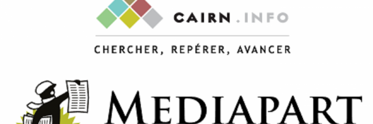 logos Cairn et Mediapart
