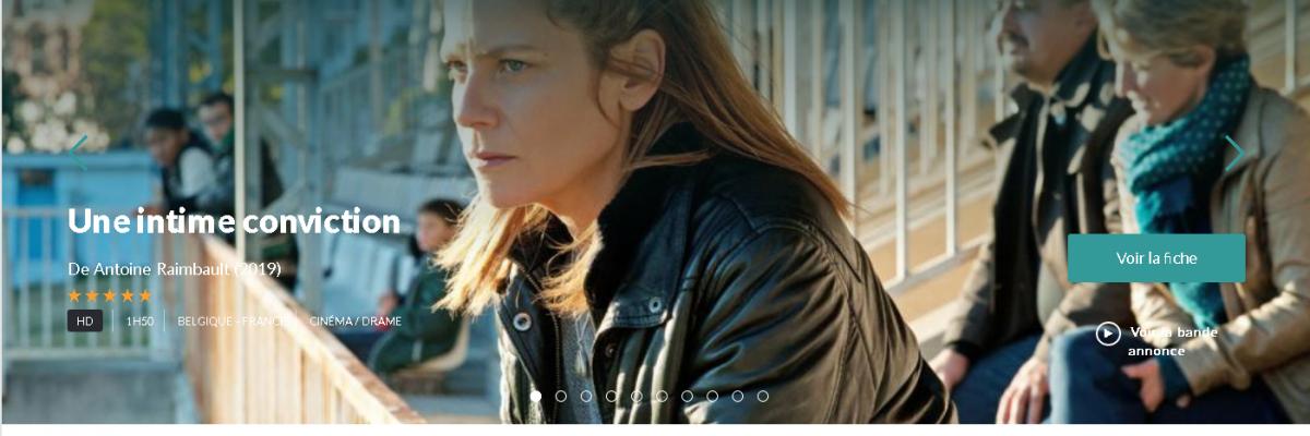 Page d'accueil de la plateforme VOD Rennes 2