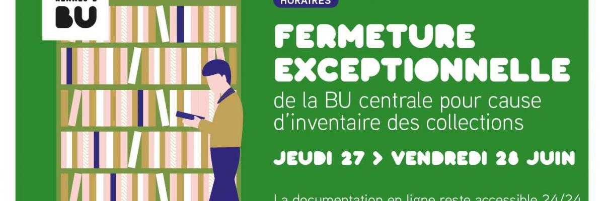 Visuel Fermeture pour inventaire 2019 - SCD Rennes 2