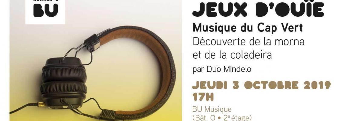 Jeux d'Ouïe Cap-Vert - BU Musique