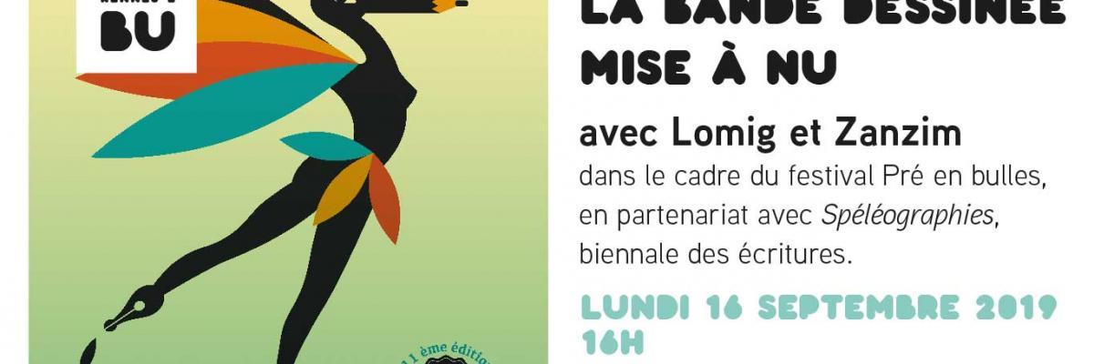 Affiche de la rencontre avec Lomig et Zanzim - 16 septembre 2019