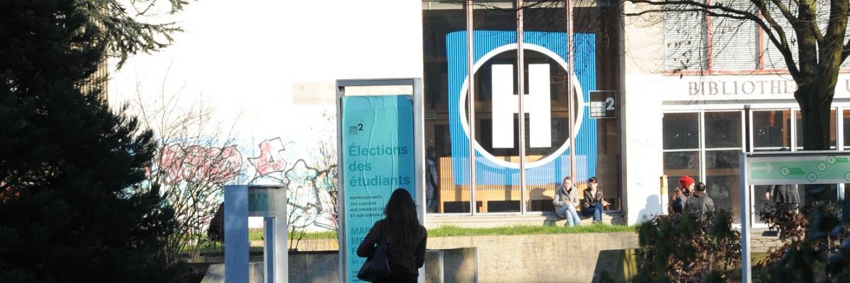 Entrée bibliothèque universitaire, SCD Rennes 2