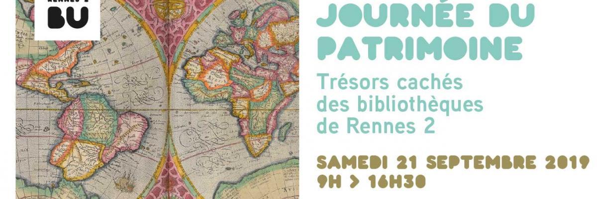 Affiche Journée du patrimoine 2019 - BU Rennes 2