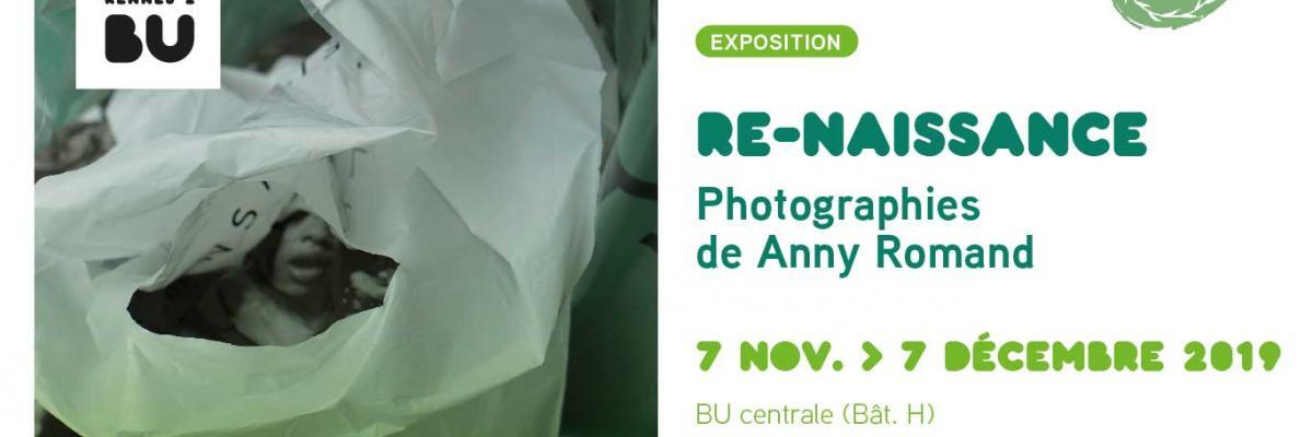 Affiche de l'exposition Anny Romand - BU Rennes 2