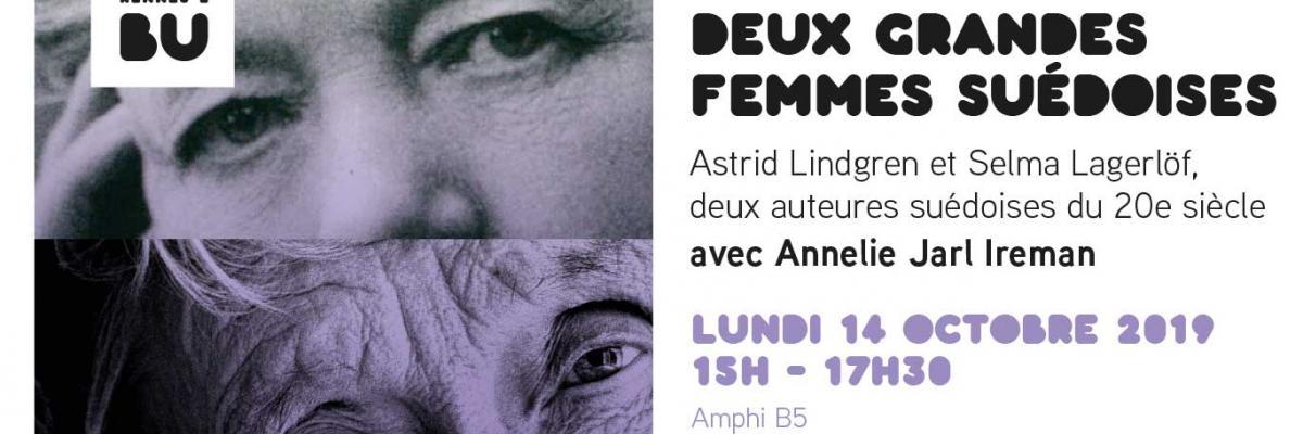 Affiche Deux grandes femmes suédoises - Université Rennes 2