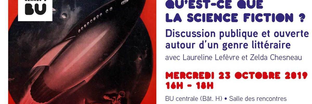 Affiche Qu'est-ce que la science-fiction - BU Rennes 2