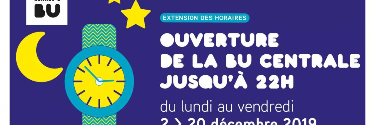 Affiche 22h en décembre 2019 - BU Rennes 2