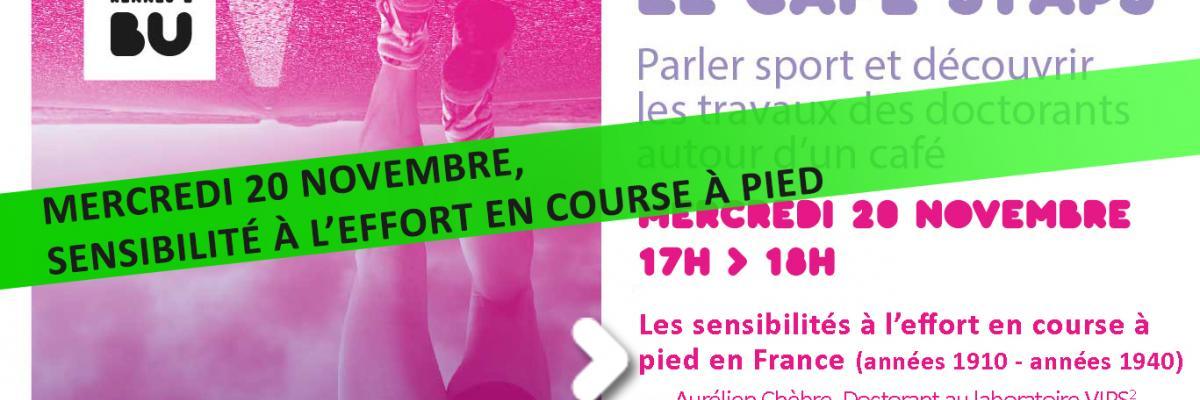 Visuel du café STAPS du 20/11/19 - SCD Rennes 2