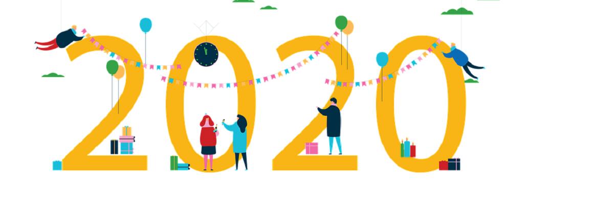Bonne et heureuse année 2020 par Kollsd, licence CC0. Source [Pixabay]
