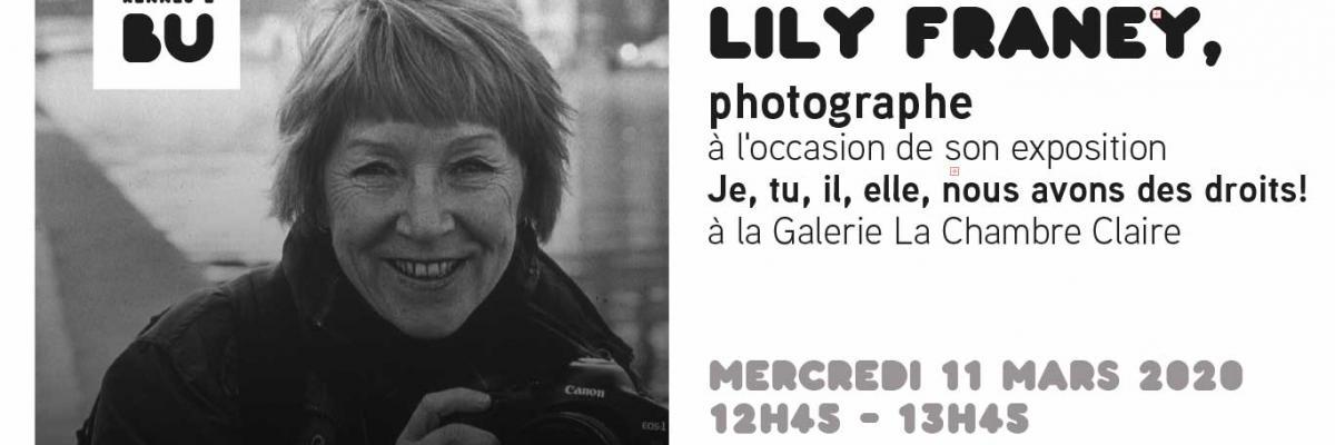 Lily Franey photographiée par Jean-Pierre Franey / BU Rennes 2