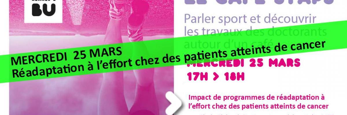 Visuel Café STAPS du 25/03/2020 - SCD Rennes 2