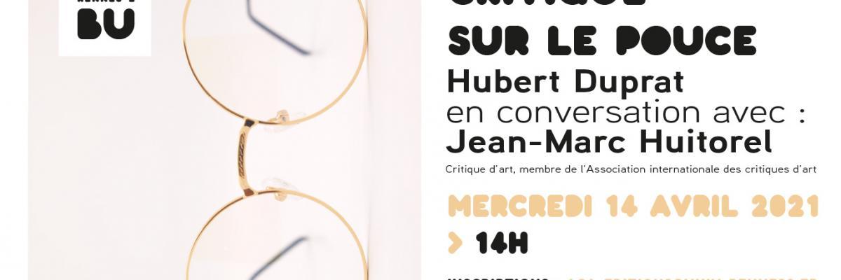 Affiche de la Critique sur le pouce du 14/04/2021 - BU Rennes 2