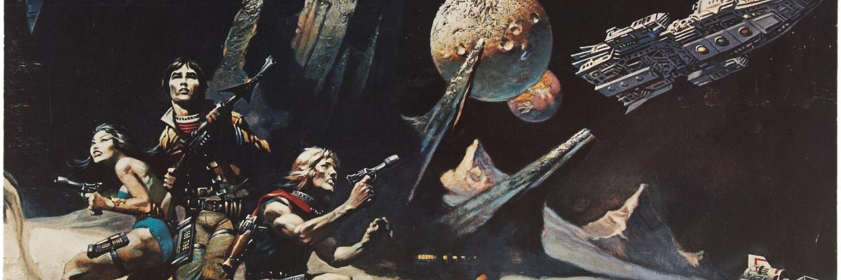 Frank Frazetta's Battlestar Galactica series premiere poster par Tom Simpson, licence CC : BY-NC-ND. Source [Flickr]
