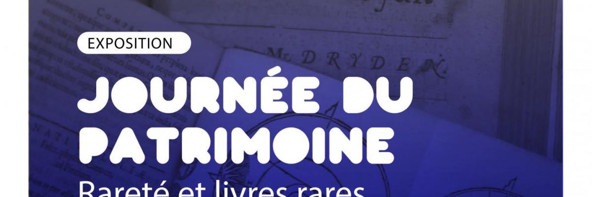 Affiche Journée du patrimoine 2018 - BU Rennes 2