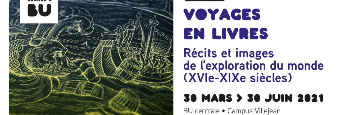 Affiche Voyages en livres 2021 - BU Rennes 2 / Photo Grégoire David