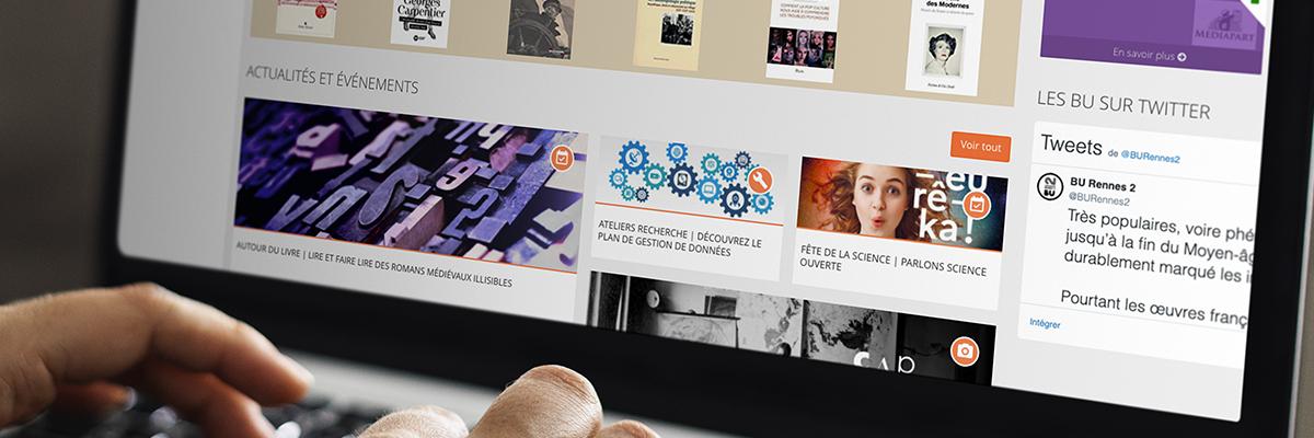 Page d'accueil du site des BU de Rennes 2.