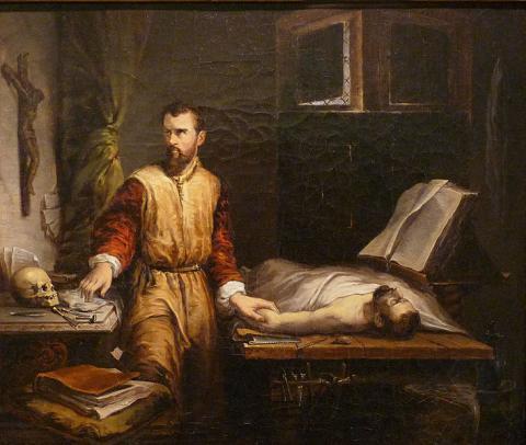 Ambroise Paré et l'examen d'un malade by Own work Ji-Elle, licence CC:BY-SA. Source [wikimedia commons]